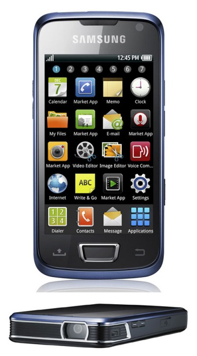 «Самсунг» Beam: телефон-пикопроектор на основе Андроид 2.1