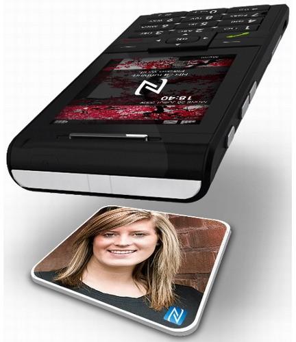 Sagem Cosyphone - вместо перечня контактов NFC карты