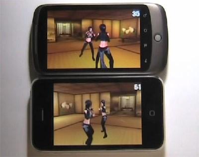 Айфон 3GS плодотворнее Nexus One на ниве 3D