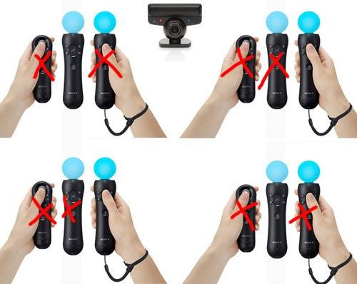 Контроллер перемещений Сони PlayStation Move имеет ограничения