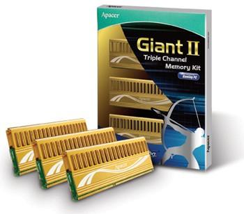 Модули памяти Apacer Giant II лучше работают с Виндоус 7