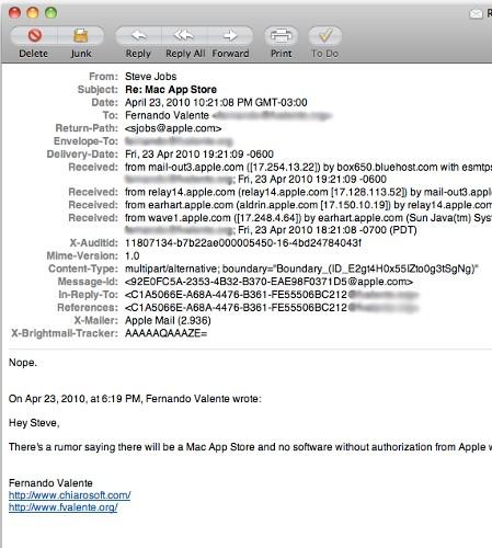У Mac OS X не будет собственного App Store