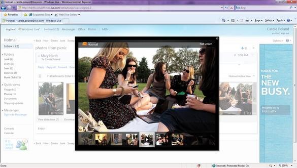 Апдейт Виндоус Live Hotmail: первые снимки экрана (ФОТО)