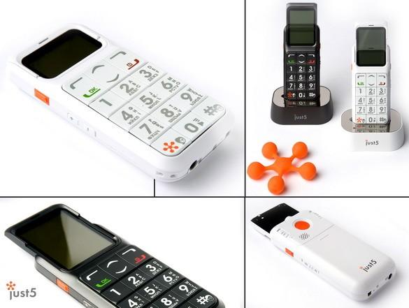 Just5 CP11: телефонный аппарат «выпрыгивающим» экраном