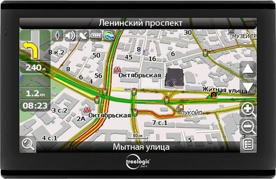 """TL-5005GF AV - активный GPS + 5"""" дисплей от Treelogic"""