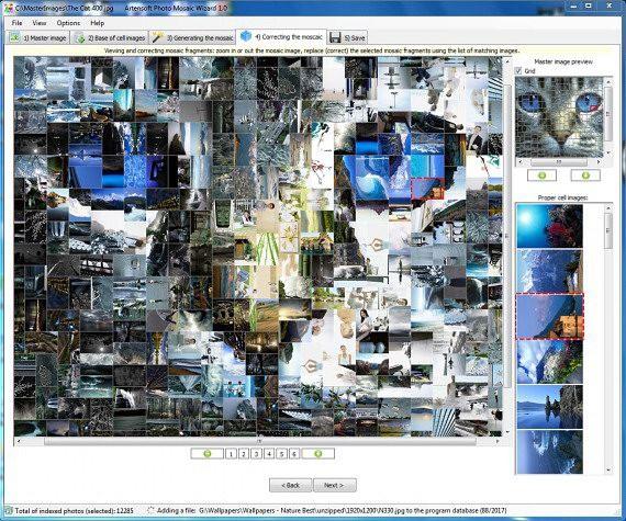 Photo Mosaic Визард 1.0: фотомозаика легко