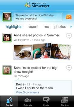 Майкрософт представляет Live Messenger для Айфон и iPod