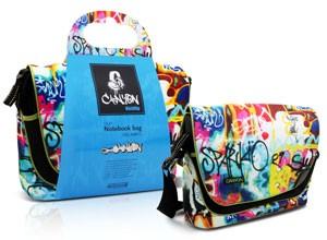 Коллекция сумок для компьютеров Kickflip в образе граффити