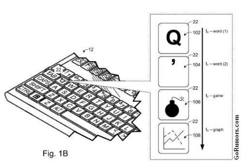 Microsoft запатентовал клавиатуру с динамичными символами
