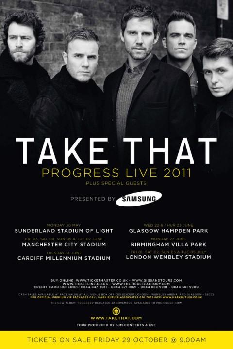 Take That объявили детали турне «Progress»