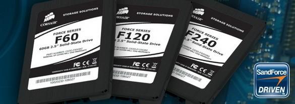 Corsair Force Серии: SSD накопители до 180 Гигабайт