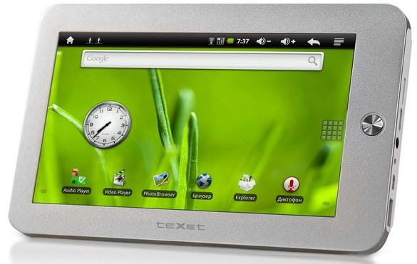 TM-7010: планшетник на основе Андроид 2.1 от teXet