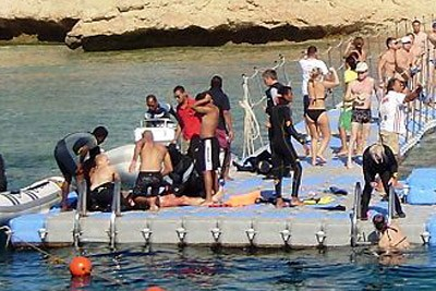 Британцы засняли жертву нападения акул в Египте