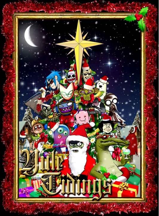 Gorillaz производят свежий свободный альбом к Рождеству