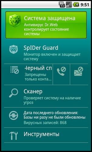 Dr.Web для Андроид выйдет с антиспамом