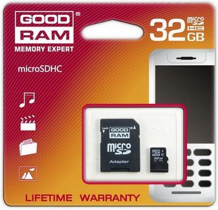 GOODRAM произвела microSDHC карту на 32GB Class 4