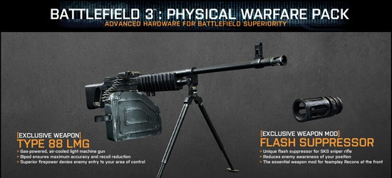 Physical Warfare Pack DLC  для увеличенного Battlefield 3