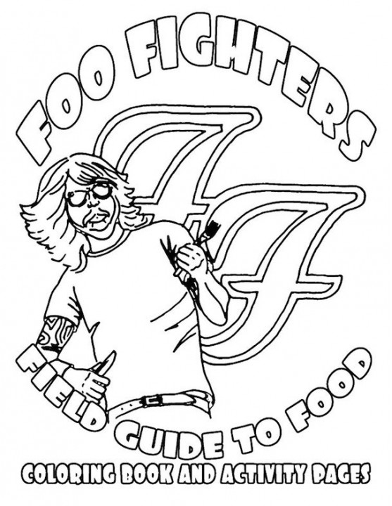 Foo Fighters преобразовали райдер в раскраску с ребусами