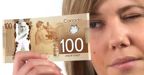 Канада переходит на купюры из полимера