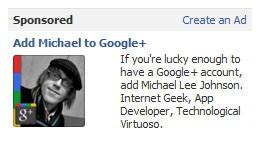 Фейсбук блокирует рекламу сторонника Google+