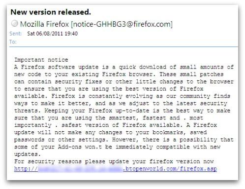 Свежий троянский вирус скрывается под восстановление Firefox