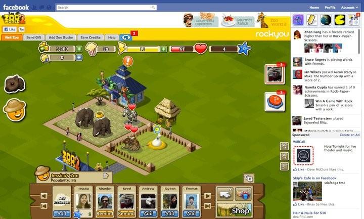 Фейсбук обновляет игровую платформу