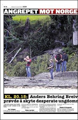 Норвежский бандит продемонстрировал как расстреливал детей на Утойе