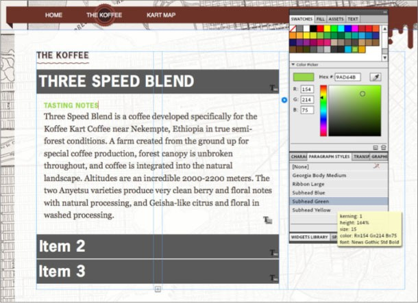 Adobe Systems продемонстрировала ПО Adobe Muse