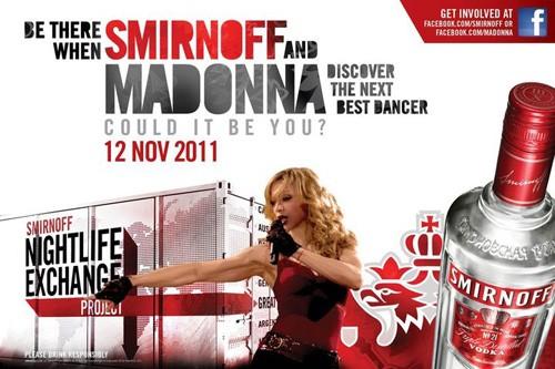 Мадонна исследует вечерние забавы в 50 государствах с водочным брэндом