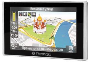 ГЛОНАСС/GPS-навигатор Prestigio GV5135 будет в начале сентября