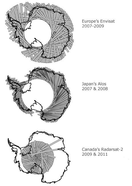 Сделана общая диаграмма перемещения льдов на Северном Полюсе
