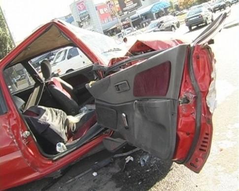 На Троещине Honda разнесла Opel