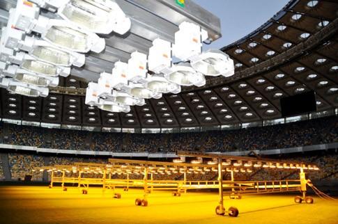 На «Олимпийском» установили «солнце» для газона