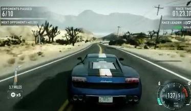 Вышло видео с геймплеем NFS: The Run – автотрасса Desert Hills