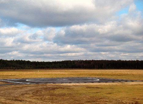 Для Януковича за считанные дни построили новый  вертодром