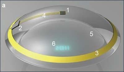 Учёные разработали контактную линзу-экран