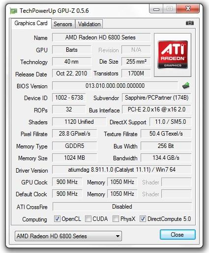 Программа GPU-Z обновилась до версии 0.5.6