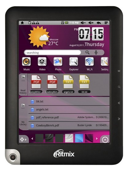 Ritmix RBK-490: функциональный ридер на ОС Андроид