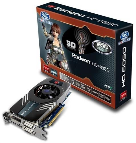 Модификация Radeon HD 6850 с 2 Гигабайт памяти от Sapphire