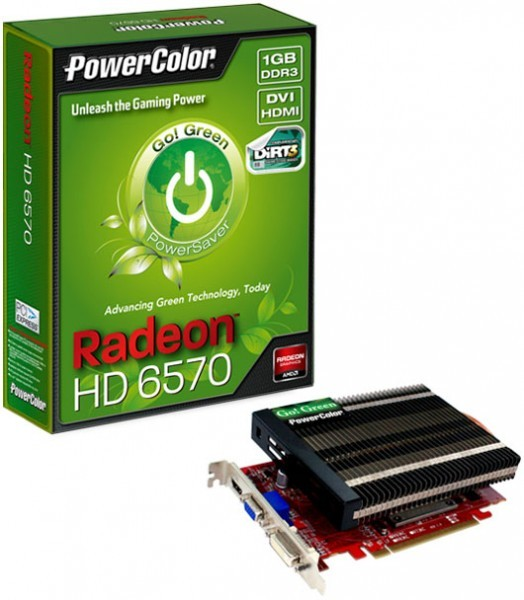 Адаптер Radeon HD 6570 серии Go! Green