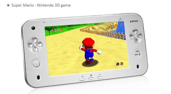 """JXD С7100: игровая приставка с 7"""" тачскрином и Андроид 2.2"""