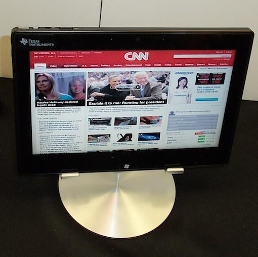 CES 2012: планшетник под Виндоус 8 на чипсете OMAP 4470 от TI