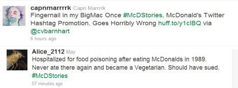 Маркетинговая кампания McDonalds в Твиттер сорвалась