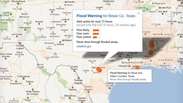 На картах Google будут выделять места естественных бедствий