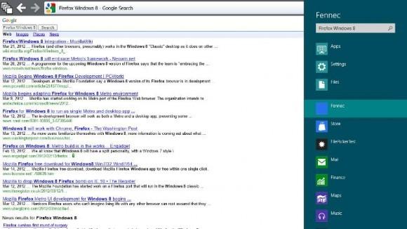 ФОТО: Mozillа продемонстрировала Firefox в Metro-стиле для Виндоус 8