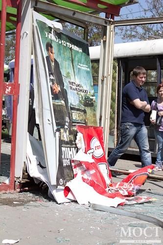 ФОТО с места взрывов в городе Днепропетровск