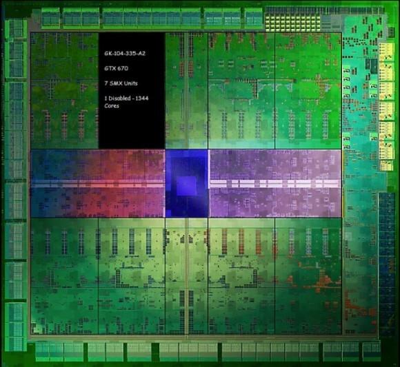 Чипсет Nvidiа GK104 в GeForce GTX 670 и GeForce GTX 660 (Ti)