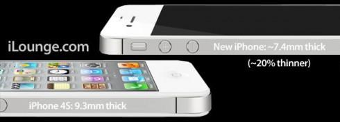 Айфон 5 будет выше и обретет 4-дюймовый экран